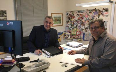 Infogespräch bei Bürgermeister Jörg Lautenschläger im Modautal und Philipp Thoma im Fischbachtal