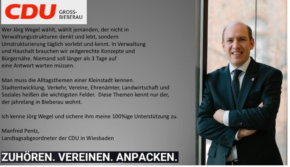 Wer Jörg Wegel wählt, …